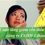 Làm thế nào tăng giảm vốn điều lệ cho công ty TNHH 1 thành viên