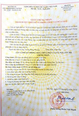 Hồ sơ xin cấp giấy phép đủ điều kiện PCCC