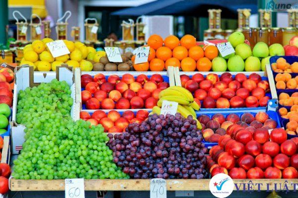 Mở cửa hàng mua bán trái cây, hoa quả năm 2021