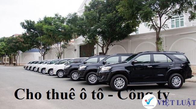 Thành lập công ty ngành cho thuê xe ô tô tại Tp.HCM